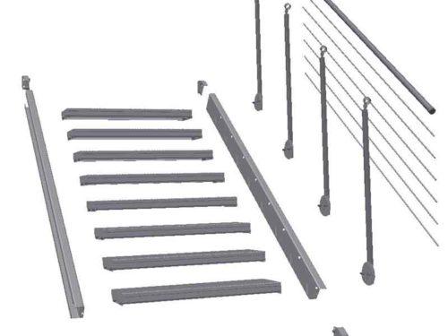 Treppenbausätze und Stufen